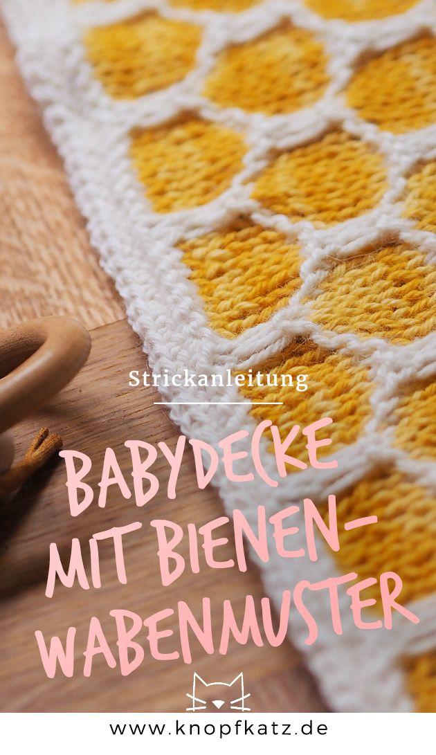 Diy Meine Erste Baby Strickdecke Mit Wabenmuster Kostenlose