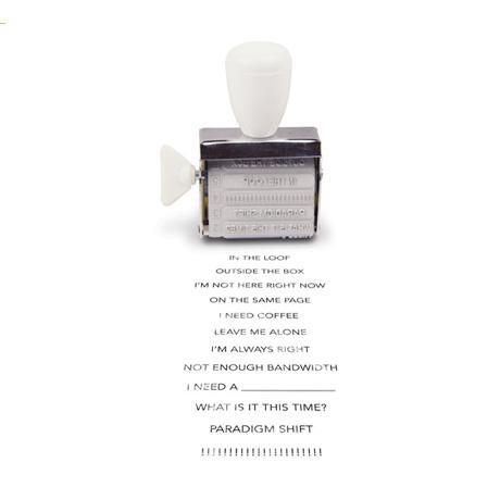 Office Speak Rotating Stamp – Black from Slapstick Stationery - R159 (Save 0%)