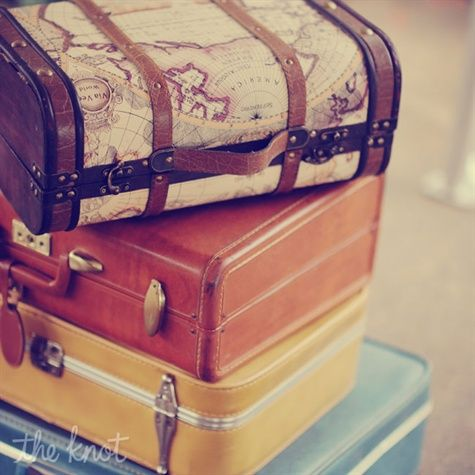Kind of like the idea of vintage suitcases for some decor..