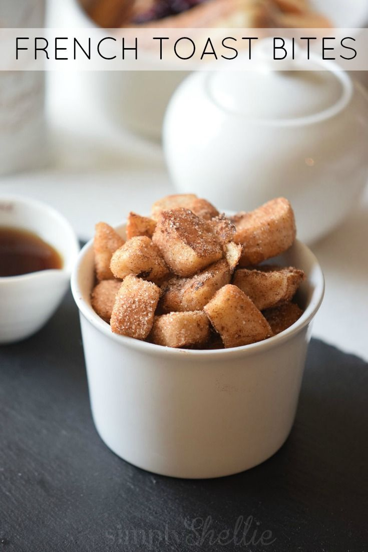 These Cinnamon Sugar French Toast Bites are certain to take up permanent residence in your Sunday Brunch rotation.