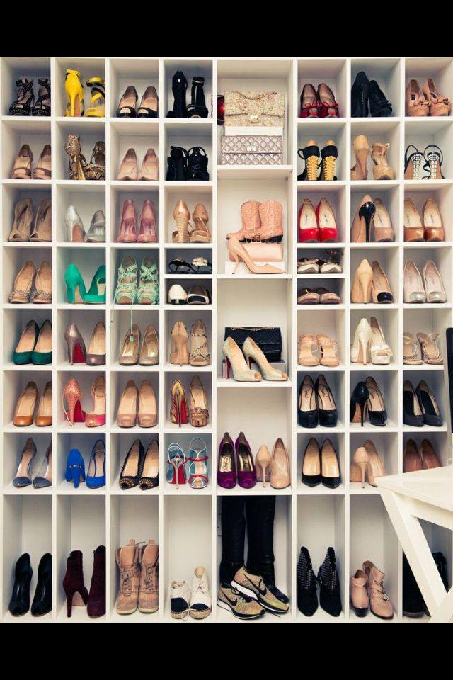 Leuk om zo je schoenen te kunnen opbergen!