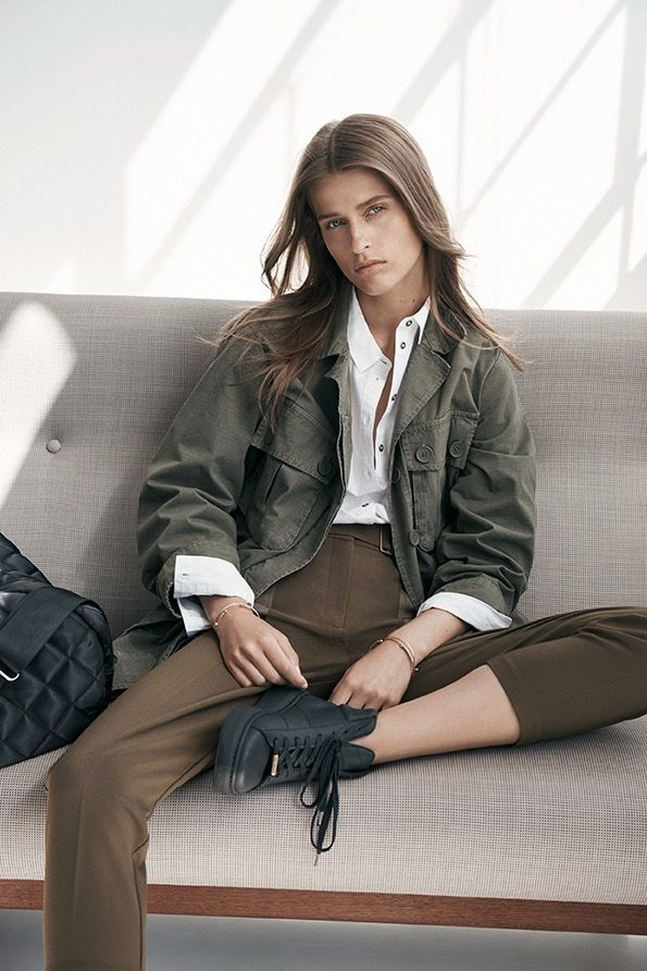 It's much easier to focus when you're wearing a great outfit. Opt for military khakis, tailored trousers and hi-top trainers for your next study date. #Topshop