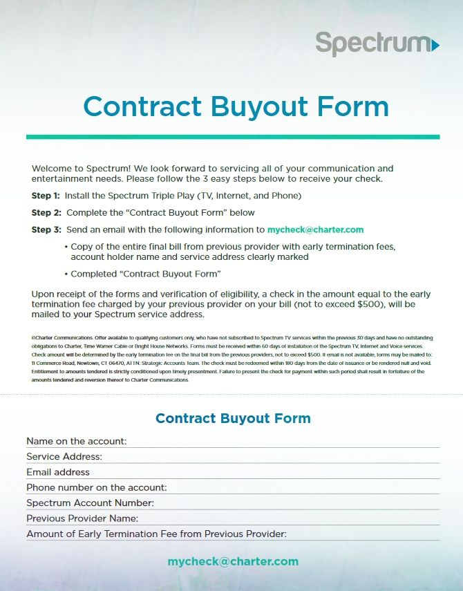 Charter Contract Buyout Form To Print Charter Contract Buyout Form