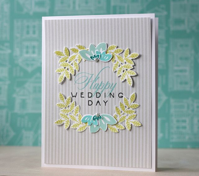 Happy Wedding Day Card by Laura Bassen for Papertrey Ink (March 2014)