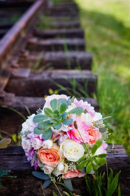 Bouquet by Confetti Floral Design based out of Abbotsford, BC // Bridal Bouquet // Wedding Flowers // Succulents
