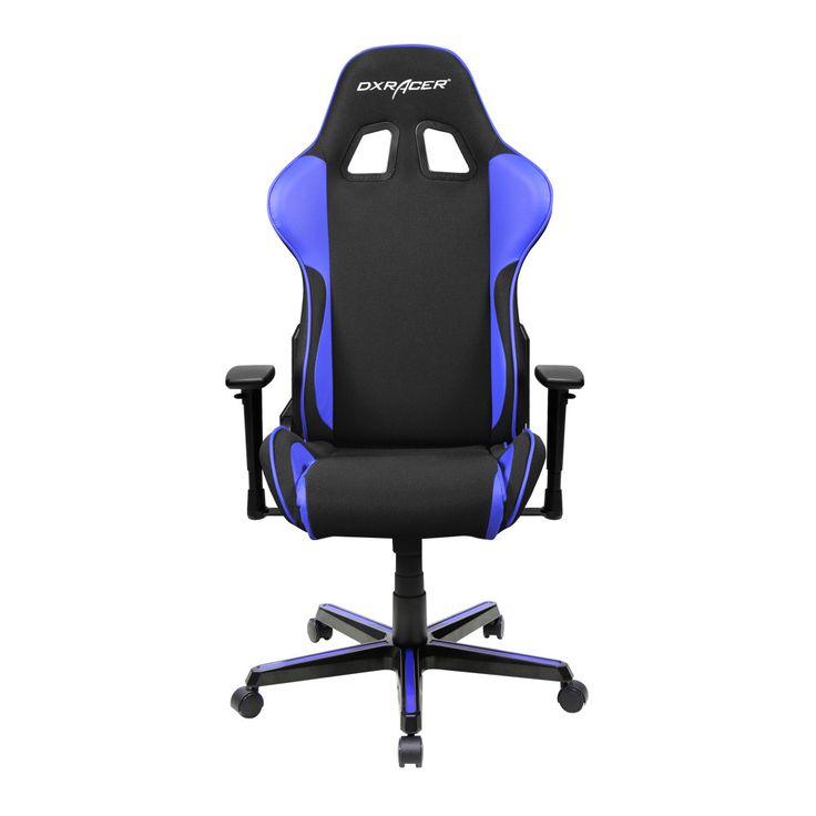 DXRACER fe11ni rocker chair comfortable computer chair mesh-Black and Dark Blue