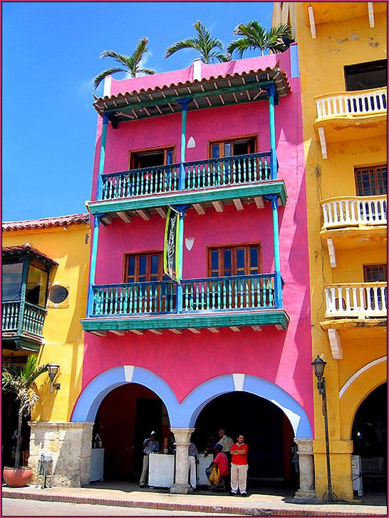 Cartagena, Colombia. Love the color.