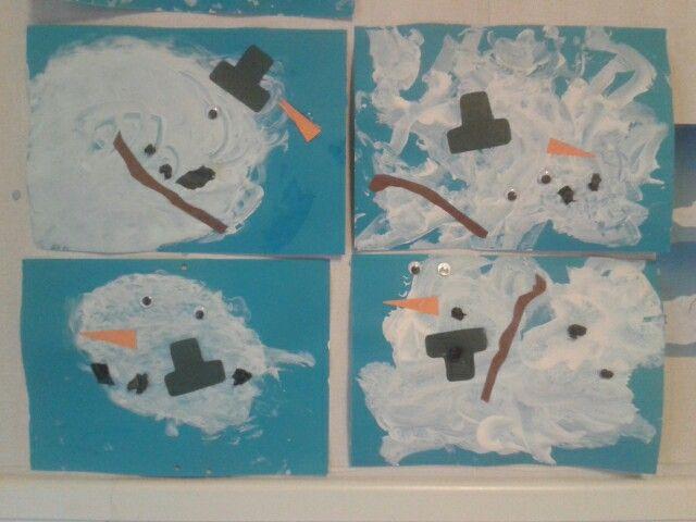 Melting snowmen w/1-2 year-olds