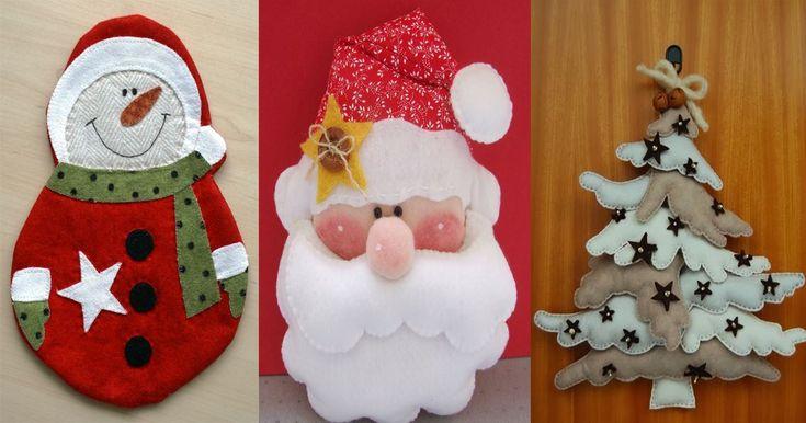 8 Preciosas Manualidades De Navidad Hechos Con Fieltro ¡No Podrás Resistirte A Realizarlas Todas Para La Casa!