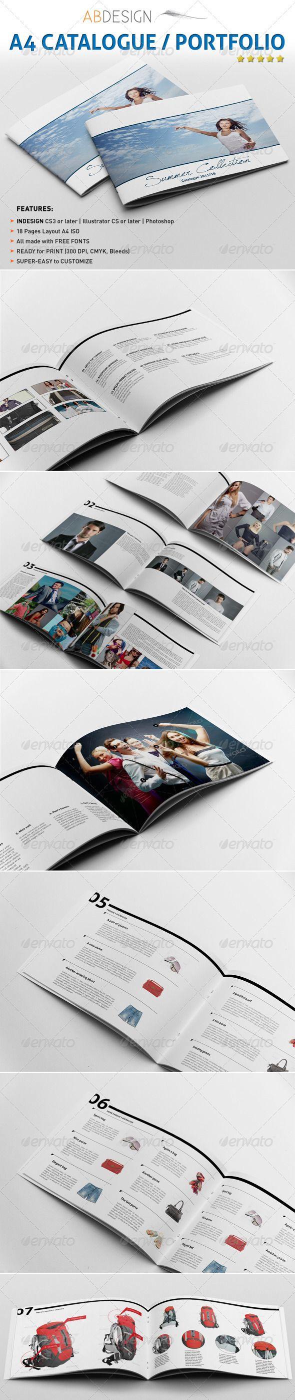 A4 catalogue portfolio