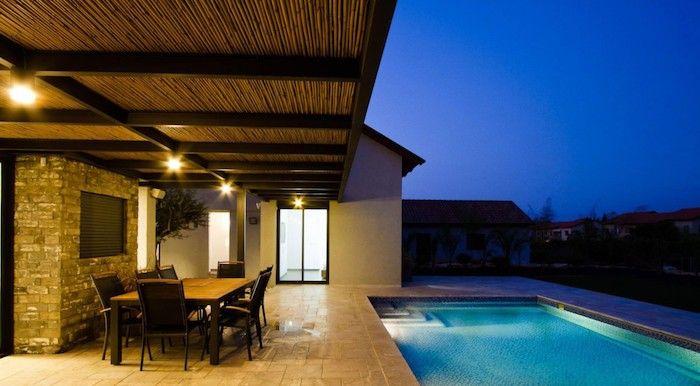 eclairage terrasse bois lanterne exterieur lumiere jardin idee luminaire pas cher spots led sol lampadaire jardins lumiere piscine