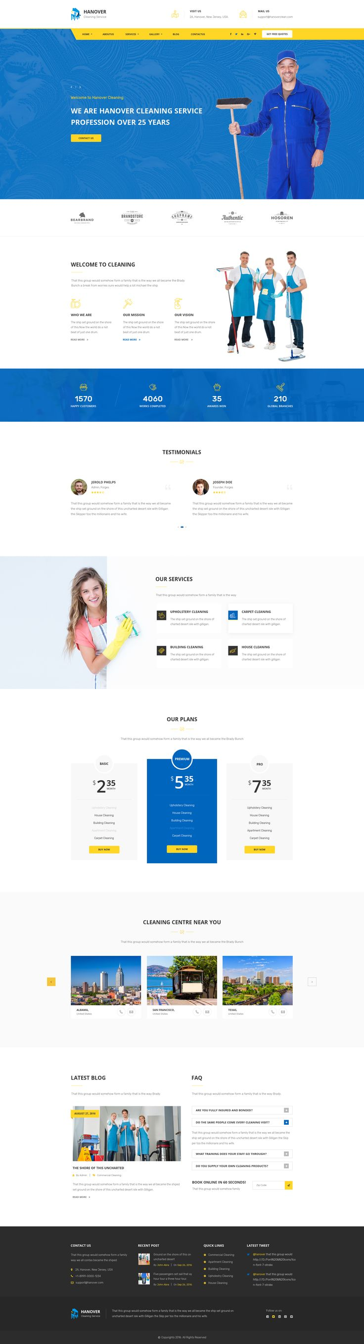 Hanover : Cleaning Services PSD Template #psd #maintenance #contractor • Download ➝ https://themeforest.net/item/hanover-cleaning-services-psd-template/18962271?ref=pxcr