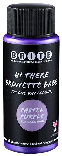 one day colour pastel purple for dark hair brite organix 1499 - Color Out Cheveux Noir