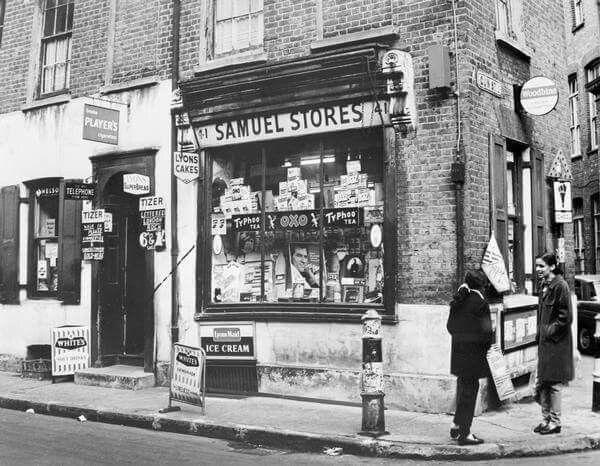 Artillery lane Spitalfields 1960s