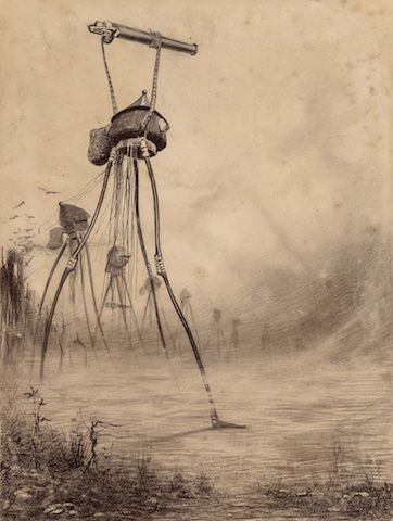 Henrique Alvim Corrêa, Martian Gas Cannon. From 'The War of the Worlds'.