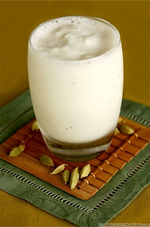 Sweet Lassi (yogurt drink)  This is similar to the mango lassi I am more used to, but it's nice to have a recipe to use when you don't have mango on hand.  My daughter loves this and it's a good way to get yogurt into her body:)
