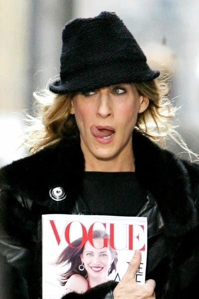 """#8 of the 28 Ways Sex and the City would be different if it were on TV now. """"Carrie would write for Vogue.com instead of Vogue."""" :)"""