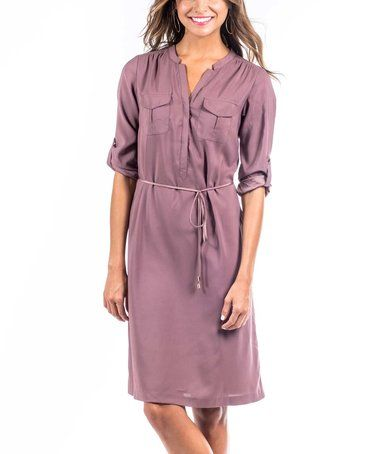 Loving this Rose Taupe Urban Safari Dress on #zulily! #zulilyfinds