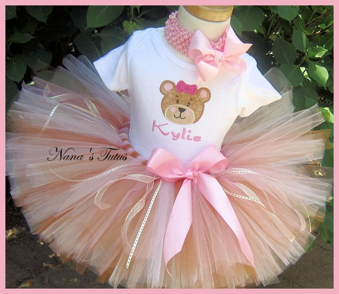 My Teddy Bear,  Party Outfit,Theme Party,Photo Shoots, Teddy Bear Birthday in Sizes up to  3yrs. $55.00, via Etsy.