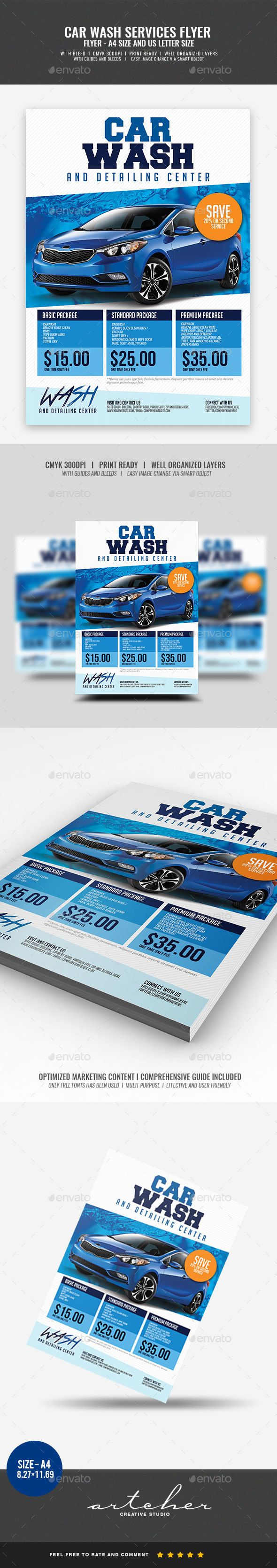 Car Wash Services Flyer Boost your company¡¯s sales and attract new customers! This Car Wash Services Flyer has been developed to help Large and Small businesses improve their Marketing Opportunity and product/brand awareness, with well-studied content for effe