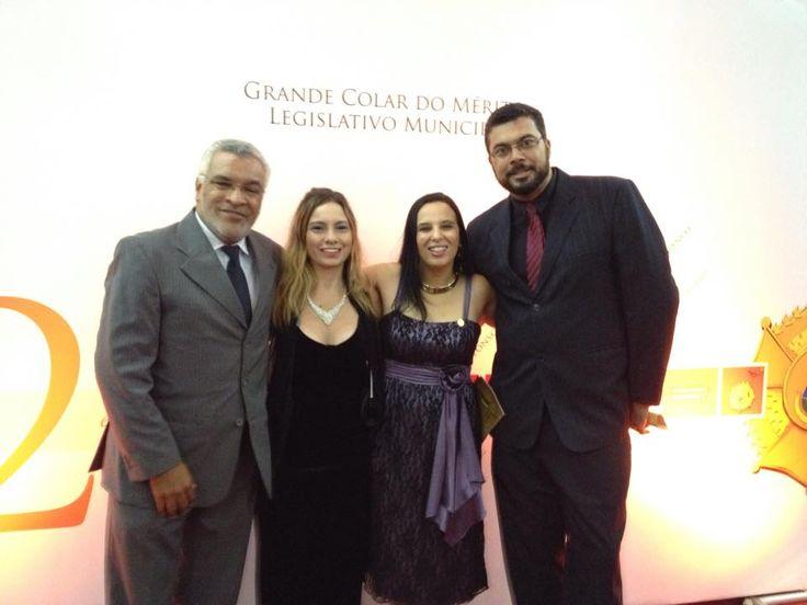 24/11/2014 - IldeuAndrade, Kelly Maltez, Rovena Nacif Martins e Plinio Marcos - homenagem Grande Colar da Câmara de BH: