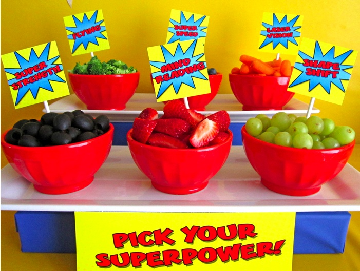 Super here themed fruit bar