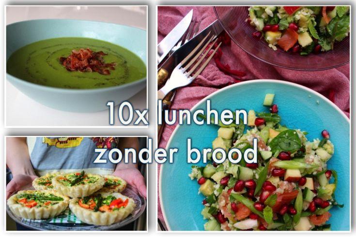10 recepten voor lunchen zonder brood. Lekker middageten met meer groenten en minder koolhydraten. Receptenoverzicht van foodbloggers.