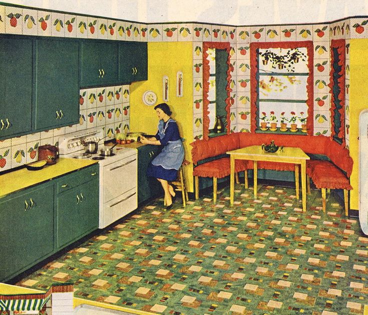 17 Best Images About Retro Kitchens On Pinterest Vintage