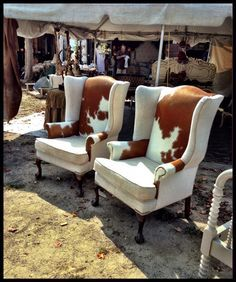 9 Best Cowhide Wingback Idea Images On Pinterest