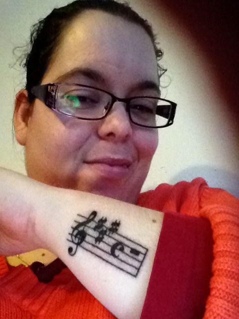 Deze tatoeage is 24-12-2013 gezet ter nagedachtenis aan mijn tante Ciska <3 14-04-1959 / 02-09-2000 R.I.P.