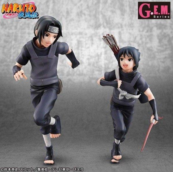 #Naruto #Figurines #Itachi et #SasukeUchiwa #Goodie #Ninja #Manga #Anime