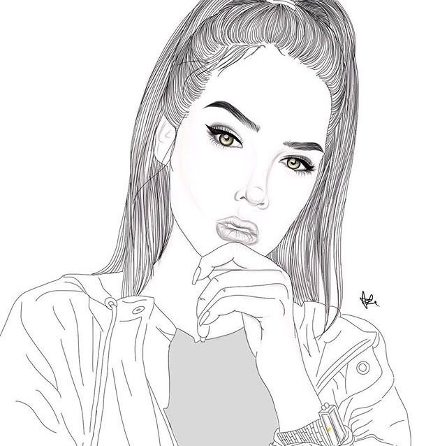 Line Drawing Of Girl Tumblr : Best images about tumblr outlines on pinterest
