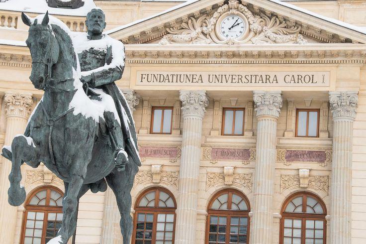 King Carol I statue, in Bucharest