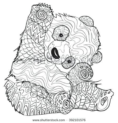 Panda Coloring Pages For Adults Panda Coloring Pages For Adults