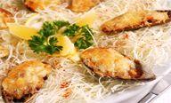 Запеченные мидии с сыром