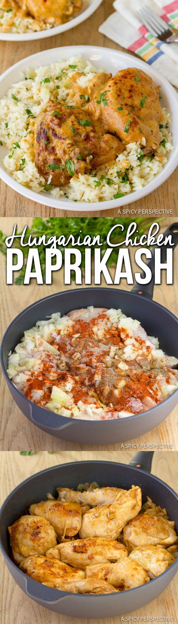Creamy Hungarian Chicken Paprikash (Paprikas) | ASpicyPerspective.com