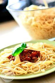 Spaghetti bolognese - Przepis na oryginalne włoskie spaghetti bolognese