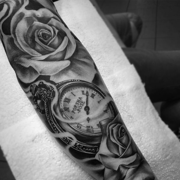 Image result for rose tattoo on forearm