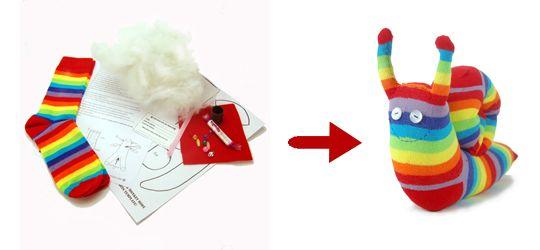 Kit couture complet permettant de créer un animal à partir de chaussettes