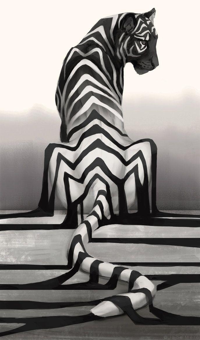 Jademere? Oui, il dessine des tigres aux lignes particulières!                                                                                                                                                     Plus