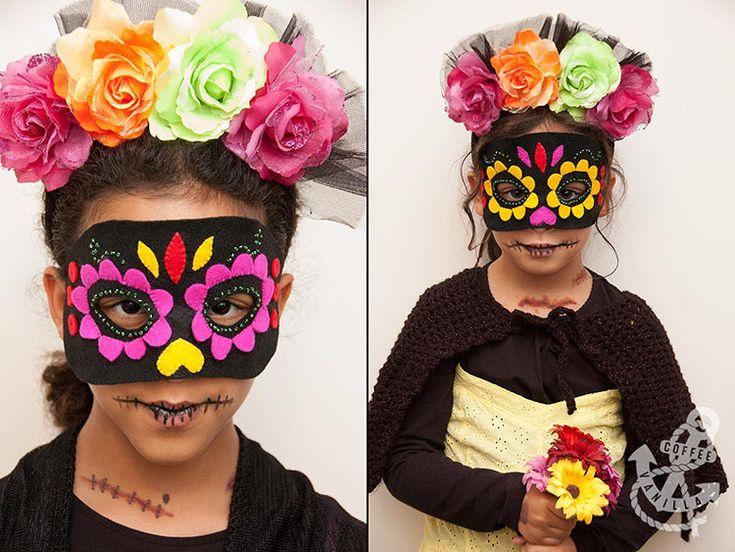 Dia de Los Muertos / Day of the Dead Mask DIY & Fancy Dress Outfit for Kids