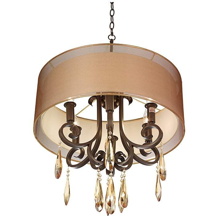 """Laundry!! Maybel Double Shade 24"""" Wide Bronze Pendant Light - #6T297 