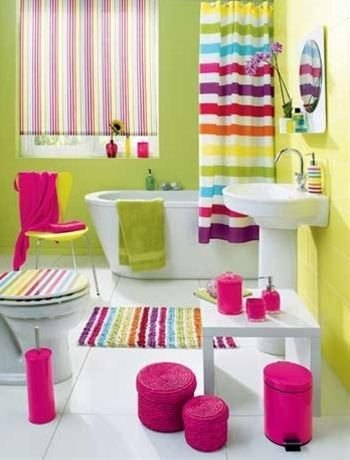 Teen girl bathroom. - Click image to find more Home Decor Pinterest pins
