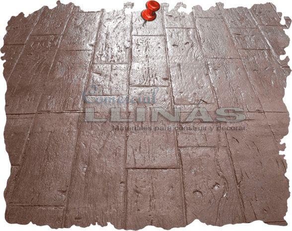 Tabl n r stico moldes hormig n impreso no deje de Hormigon impreso rustico