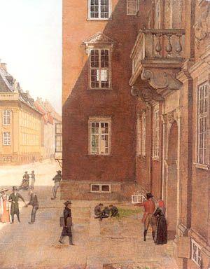 Christen Købke: Udsigt fre et vindue i Eckersbergs atelier
