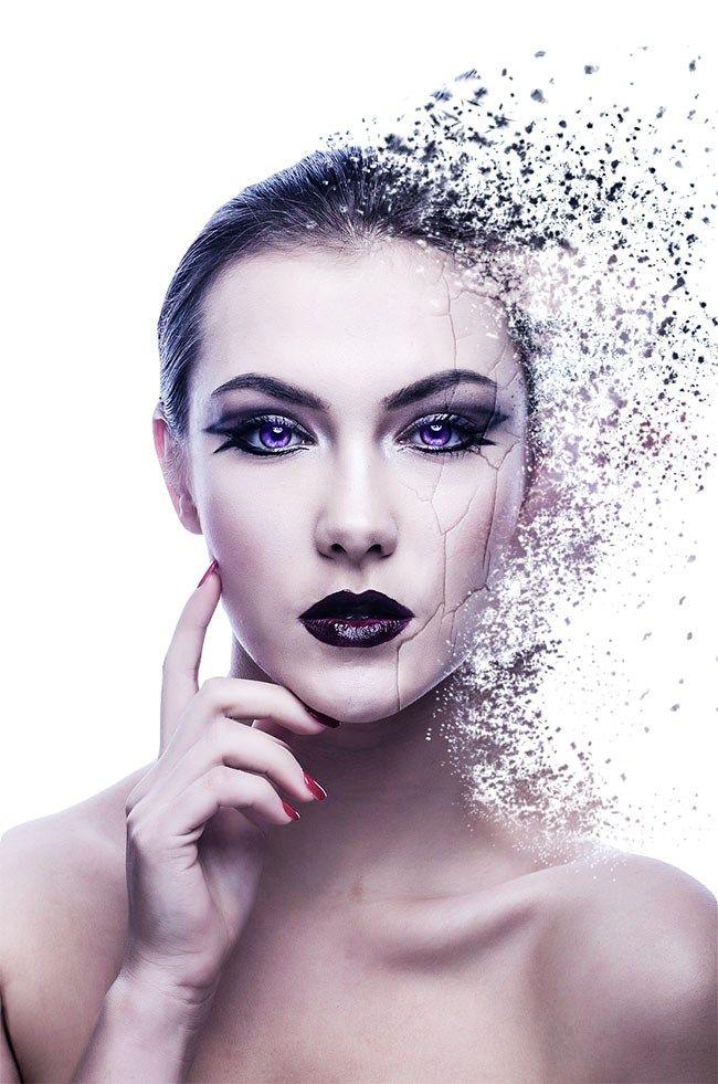 Aujourd'hui dans ce tuto Photoshop nous allons apprendre comment réaliser un effet de désintégration avec Photoshop. Nous allons ajouter l'effet de désintégration en utilisant des brushes particules, les Masques de fusion et l'outil Fluidité et finir par l'ajout de texture fissurée l'incruster en la déformant comme si elle enroulée autour du visage et donner un …