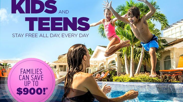 Kids and Teens Stay FREE - https://traveloni.com/vacation-deals/kids-teens-stay-free/ #caribbeanvacation #mexicovacation #kidsfree