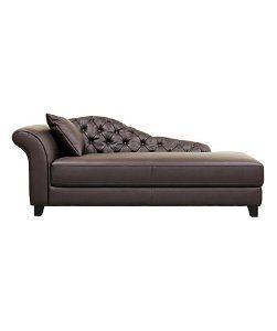 Baxton StudioBaxton Studio Josephine Brown Leather Victorian Modern Chaise Lounge