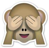 See No Evil Monkey | EmojiStickers.com