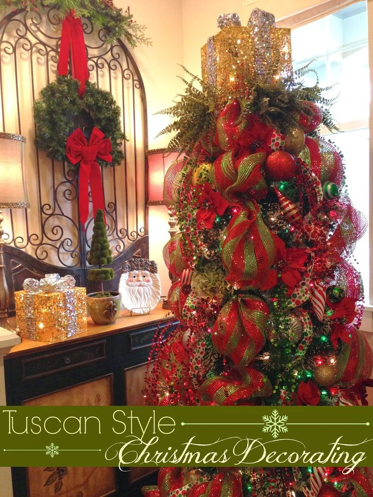 tuscan xmas decorations | Hi there, Friends! I sure have Christmas on my  mind